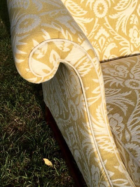 Canapé anglais contemporain, d'inspiration George II